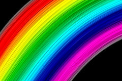 Abstract rainbow colours. On a black background Royalty Free Stock Images