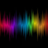 Abstract rainbow colours 2 Stock Image