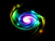 Abstract rainbow cosmic light Royalty Free Stock Image