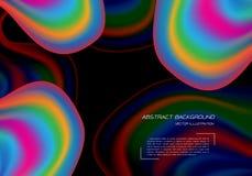 Abstract rainbow curve overlap on black design modern background vector. Illustration stock illustration