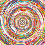 Abstract rainbow curved lines circle colorful back Royalty Free Stock Photos