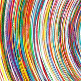 Abstract rainbow curved lines colorful background Stock Photography