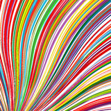 Abstract rainbow curved stripes color background Royalty Free Stock Image