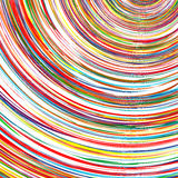 Abstract rainbow curved stripes color background Stock Photos