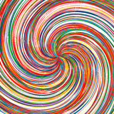 Abstract rainbow curved stripes color background. Illustration Royalty Free Illustration