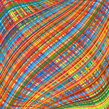 Abstract rainbow curved stripes color background Royalty Free Stock Images