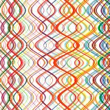 Abstract Rainbow Curved Stripes Color Line Art Vector Background Stock Photography