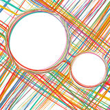 Abstract Rainbow Curved Stripes Color Line Background Royalty Free Stock Photo