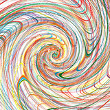 Abstract Rainbow Curved Stripes Color Line Spiral Background Stock Image