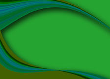 Abstract rainbow curves. In blue and green Royalty Free Stock Photos