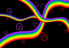 Abstract rainbow curves Stock Photos