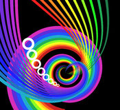 Abstract rainbow curves Royalty Free Stock Image