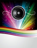 Abstract Rainbow Disco Background Stock Photo