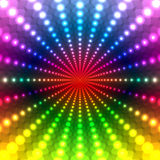 Abstract Rainbow Disco background Royalty Free Stock Image
