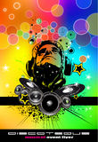 Abstract Rainbow Disco Flyer Stock Photography