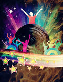 Abstract Rainbow Disco Music Background Stock Images