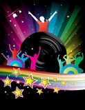 Abstract Rainbow Disco Music Background Royalty Free Stock Images