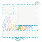 Abstract Rainbow Doted Circle Background Royalty Free Stock Image