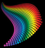 Abstract rainbow dots Royalty Free Stock Photography