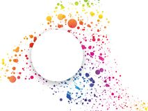 Abstract rainbow dotted background with color spectrum. Modern style Stock Images