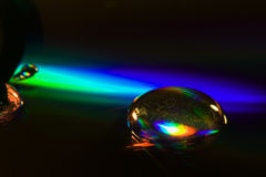 Abstract rainbow drop Royalty Free Stock Photos
