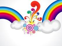 Abstract rainbow explode cloud Stock Photos