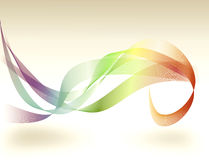 Abstract Rainbow Flourish Background Stock Photo