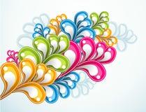 Abstract rainbow flower. Bright multicolored rainbow flower illustration Royalty Free Stock Image