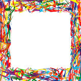 Abstract rainbow frame colorful background Royalty Free Stock Images