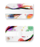 Abstract rainbow galaxy color wave business card Royalty Free Stock Photo