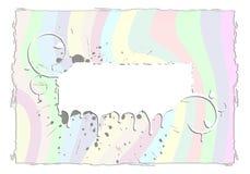 Abstract Rainbow Grunge Frame Royalty Free Stock Photos