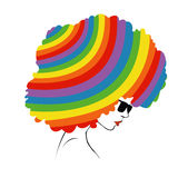 Abstract  rainbow hair - Illustration Royalty Free Stock Photos