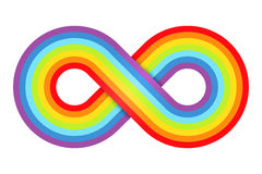 Abstract rainbow infinity Royalty Free Stock Image