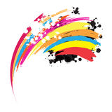 Abstract rainbow ink paint. Background Royalty Free Stock Photography