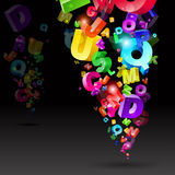 Abstract rainbow letters Stock Image