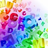 Abstract rainbow letters Stock Photo