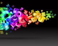 Abstract rainbow letters