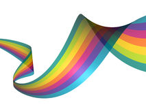 Abstract rainbow lines Stock Photo