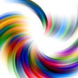 Abstract rainbow lines on white background. Vivid colorful abstract lines in ranbow colors, in blue, yellow, green and red hues. Abstract background and design Royalty Free Stock Images