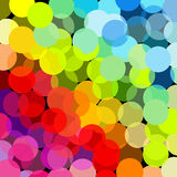 Abstract rainbow made of circles Stock Photos