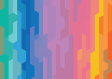 Abstract rainbow modern shape background Stock Photography