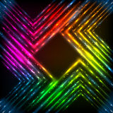Abstract rainbow neon corners vector background Royalty Free Stock Images