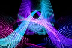 Abstract rainbow neon glowing crossing lines pattern royalty free illustration