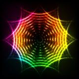 Abstract rainbow neon spirals vector cosmic circle Royalty Free Stock Photo