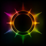 Abstract rainbow neon spirals vector cosmic star Stock Photography