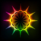 Abstract rainbow neon spirals vector cosmic sun. Vector abstract rainbow neon spirals vector cosmic sun Royalty Free Stock Photography