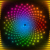 Abstract rainbow neon vector circle Royalty Free Stock Photography