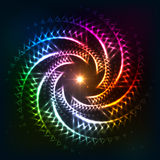 Abstract rainbow neoncosmic spiral background Stock Photography