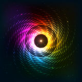 Abstract rainbow neoncosmic spiral background Stock Images