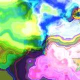 Abstract rainbow oil digitally rendered fantasy pattern Stock Photo